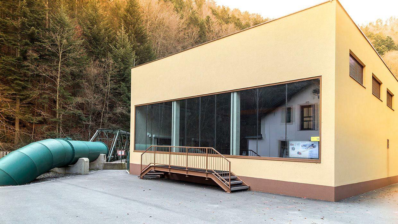 Foto der Außenansicht des Kraftwerk Stubenbergklamm