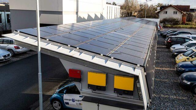 Foto des Solar Carport der Feistritzwerke