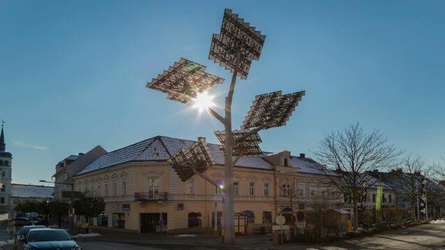 Foto vom Solarbaum Gleisdorf